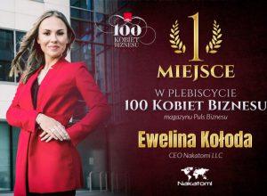 Ewelina Kołoda – 1 miejsce w plebiscycie 100 Kobiet Biznesu 2018